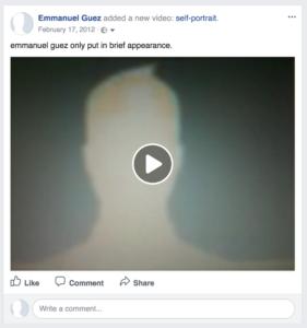 alone with facebook - emmanuel guez self portrait