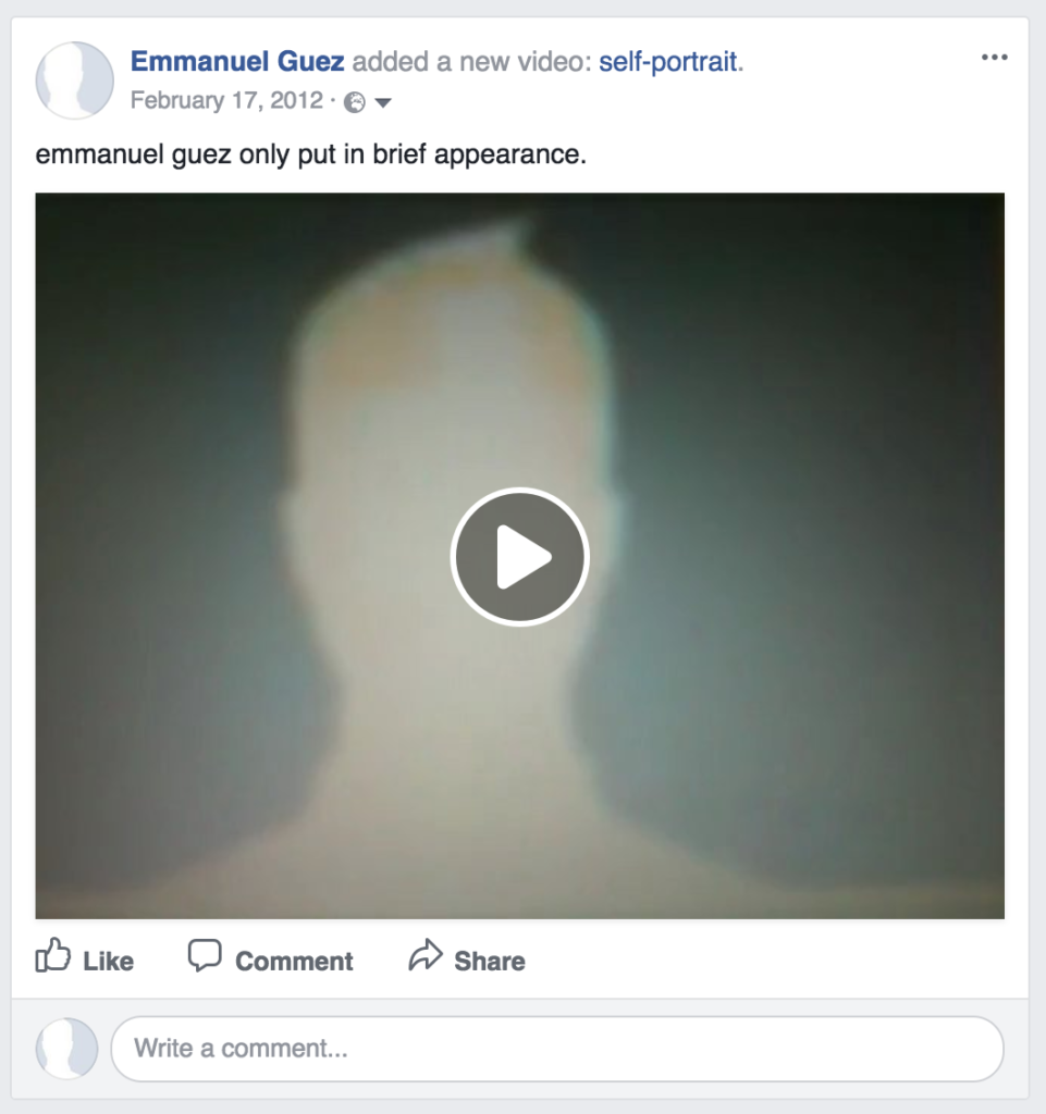 alone with facebook - self portrait
