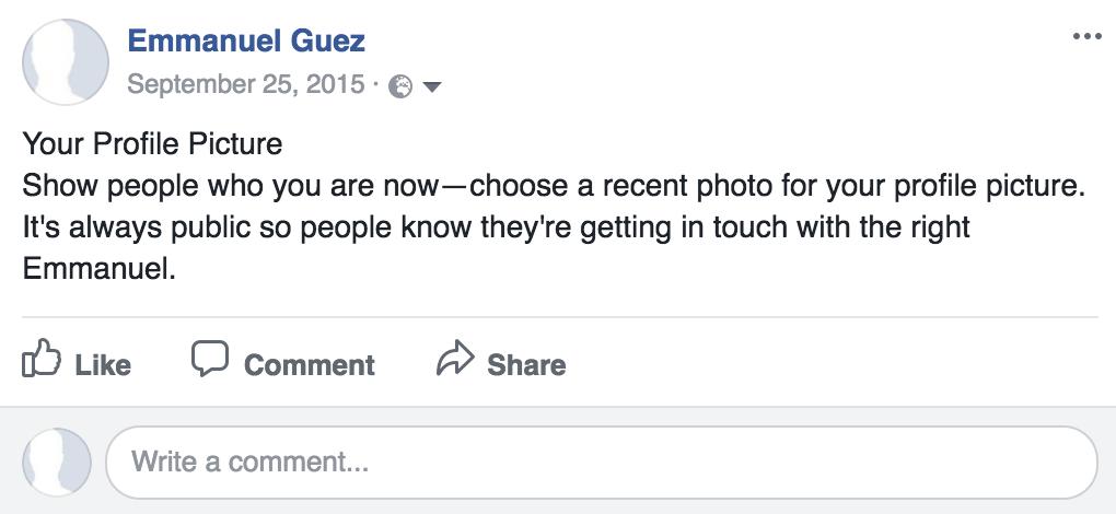 seul ave facebook - profile picture request