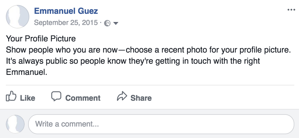 seul avec facebook - profile picture request