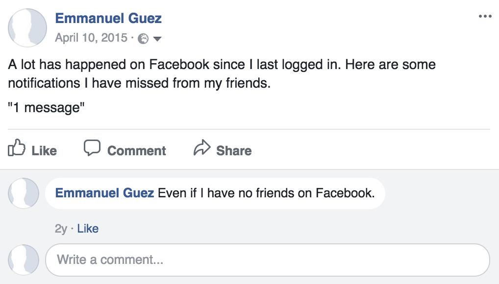 seul avec facebook even if