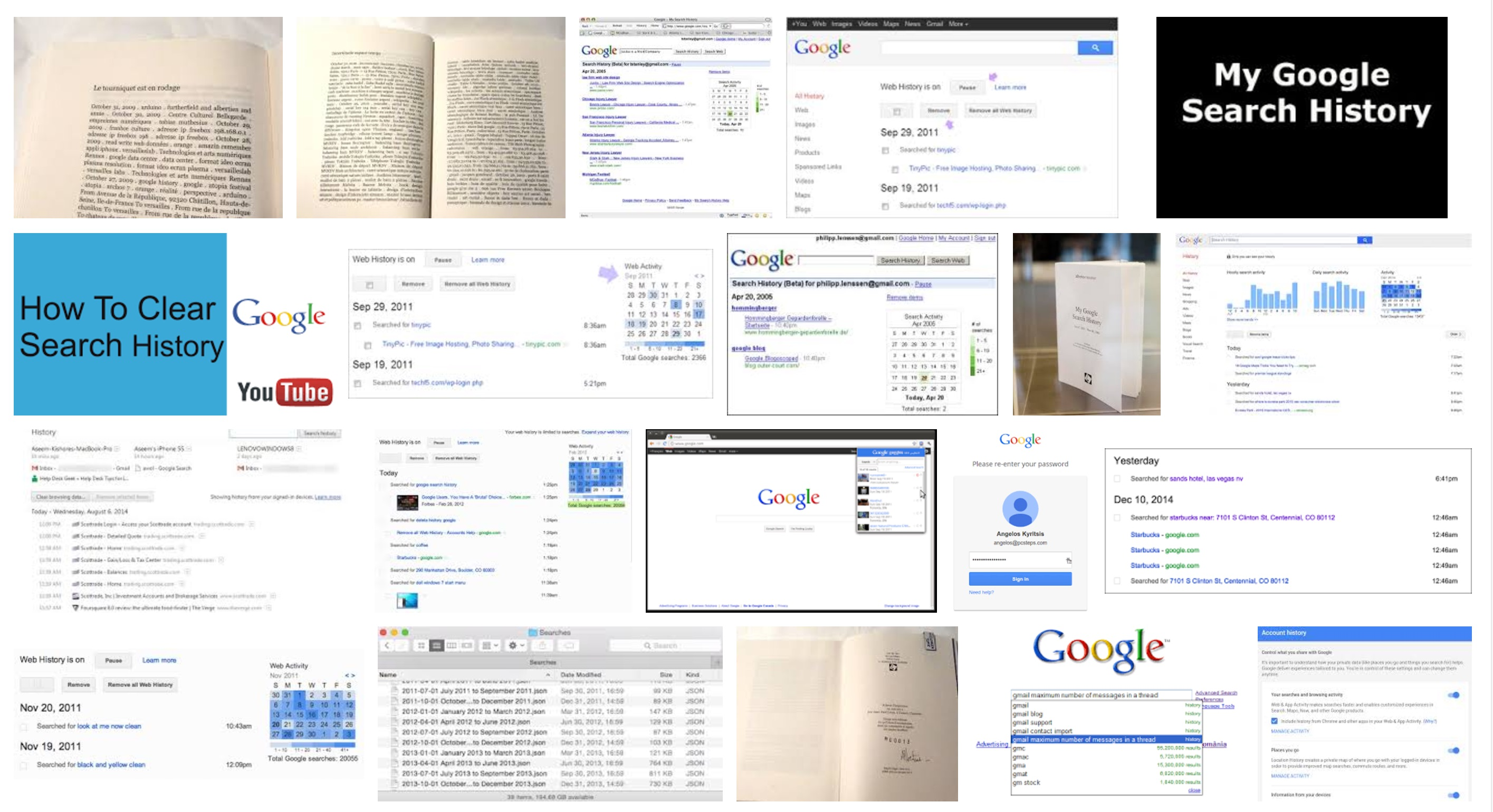 how to find my google search history